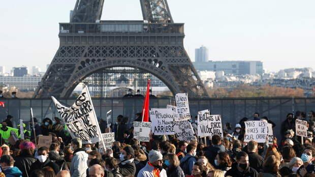 В Париже задержали более 20 человек на акции протеста