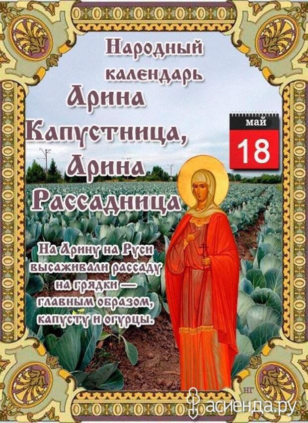 Народный календарь. Дневник погоды 18 мая 2021 года