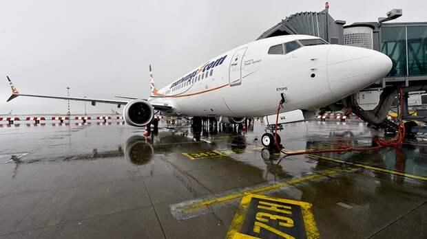 Самолет Boeing 737 MAX в аэропорту Праги