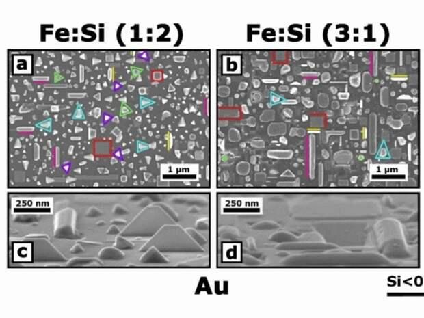 Из нанокристаллов силицида железа теперь можно делать прямоугольники и треугольники