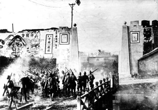 Японские войска в окрестностях Даньяна