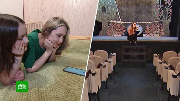 Артисты кукольного театра по телефону рассказывают сказки на ночь