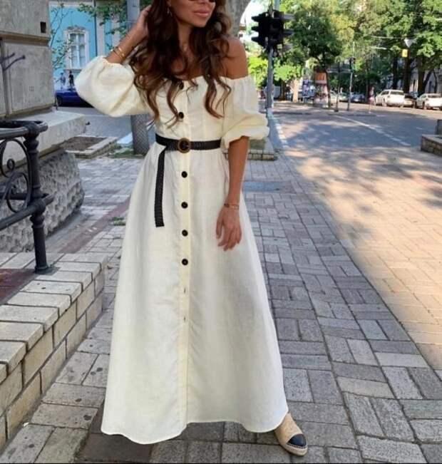 Платья изо льна 2021: модные фасоны, новинки