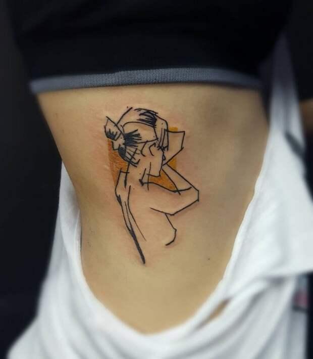 Татуировки обнаженных (подборка)