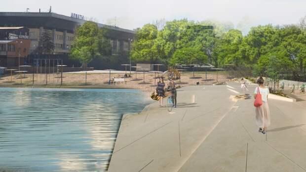 Парк Первого Президента в Алматы планируют разделить на 4 зоны и построить в нем озеро