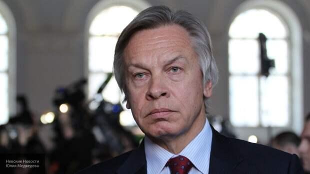 Пушков указал, что место британскому докладу о «вмешательстве РФ» на помойке