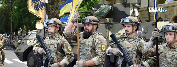 Украинские власти устроили торжества и парад штурмовиков националистических батальонов по случаю седьмой годовщины захвата...