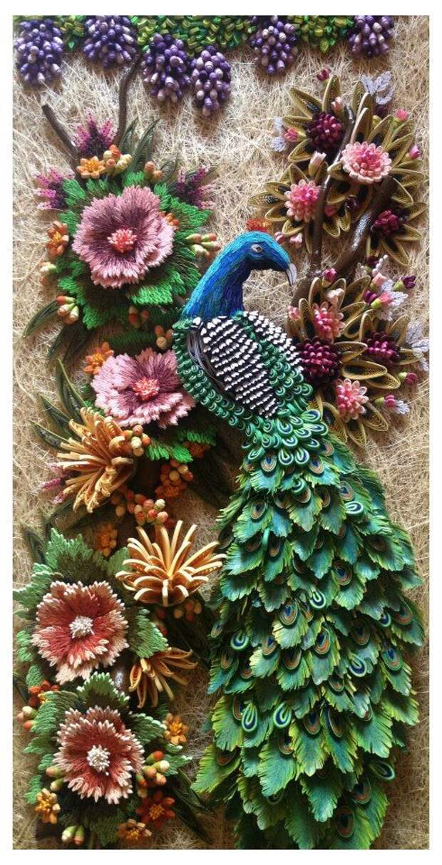 Peacock in paper quilling