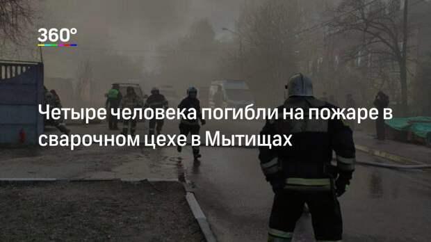 Четыре человека погибли на пожаре в сварочном цехе в Мытищах