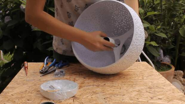 Дизайнерский светильник своими руками: простая техника+доступные материалы