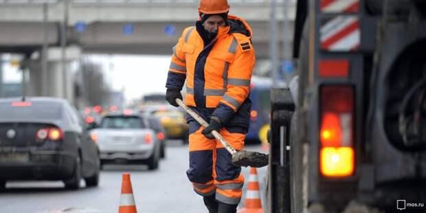 Коммунальщики провели локальный ремонт дороги в Хорошевке