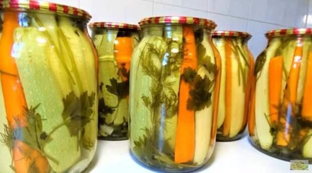 Рецепт ароматных, хрустящих и вкусных маринованных кабачков на зиму