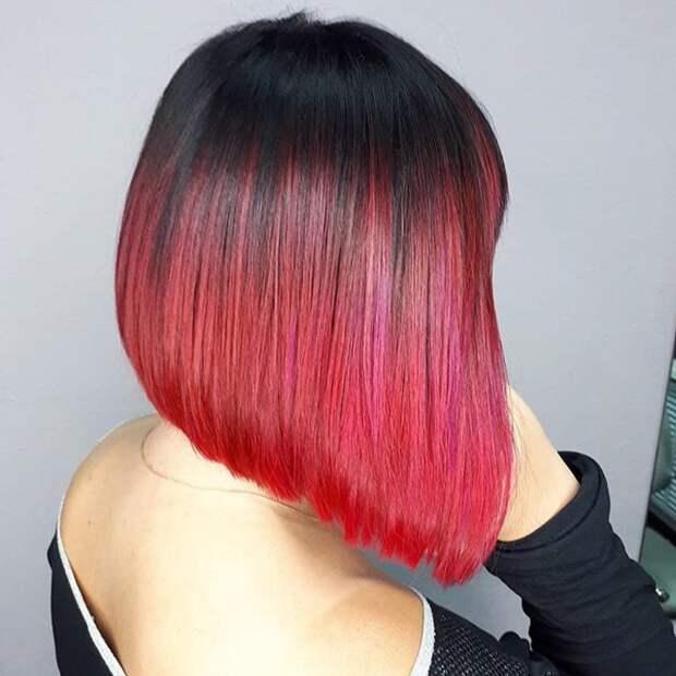 Балаяж на короткие волосы 2020: фото 8