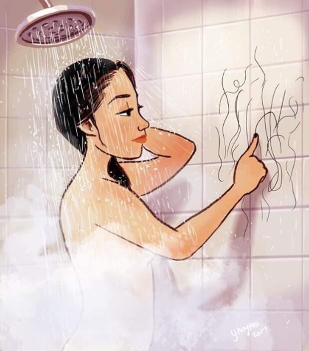35-летняя художница наглядно объяснила в своих рисунках, почему женщине здорово жить одной