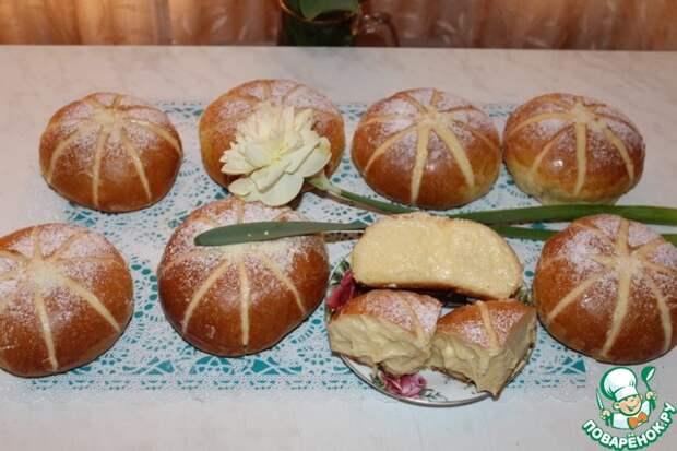 Аппетитные булочки с заварным кремом