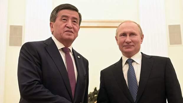 Путин поздравил президента Киргизии с Днём независимости
