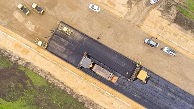 На платной трассе М-4 идёт строительство обхода Краснодара