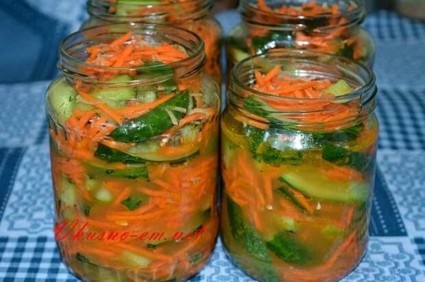 фото Огурцы по Корейски с Морковью