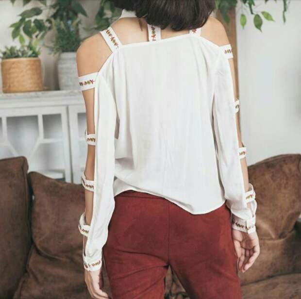 Летняя блузка с вышивкой 2.0