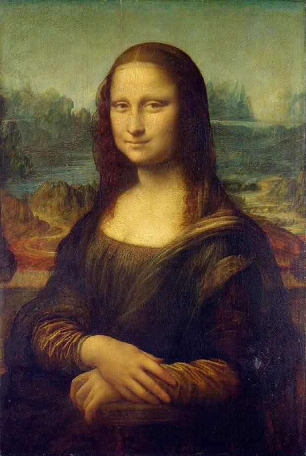 Леонардо да Винчи «Мона Лиза» 1503–1505Хранится в Лувре, Париж.