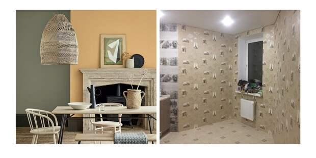 Сравнение окраски и оклейки стен