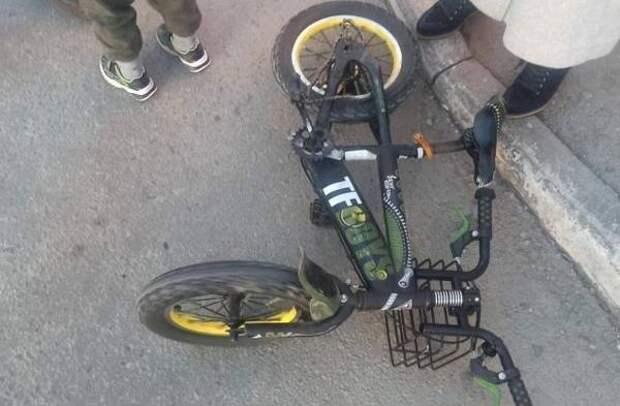 Водитель иномарки в Челябинске сбил ребёнка на велосипеде и скрылся