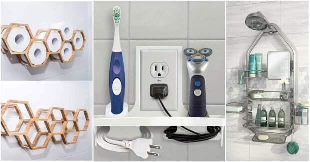 20 интересных бюджетных способов хранения в ванной комнате