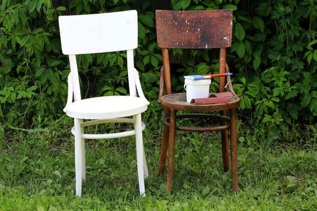 Реставрация и переделка старого стула