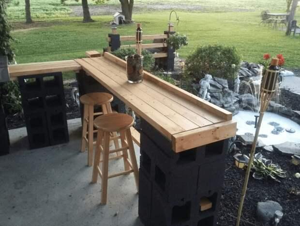 Для вдохновения - креативные идеи бара на заднем дворе