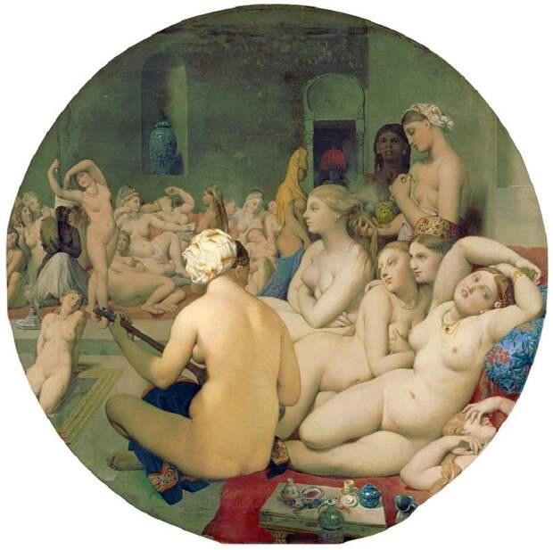 Жан Энгр «Турецкие бани» 1862Хранится в Лувре в Париже.