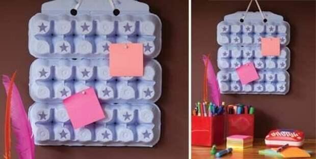 Доска для записей вторая жизнь вещей, контейнер из-под яиц, коробка из-под яиц, своими руками, сделай сам