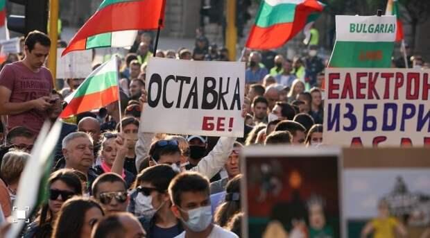 Протестующие вБолгарии заблокировали шоссе изЕС вГрецию