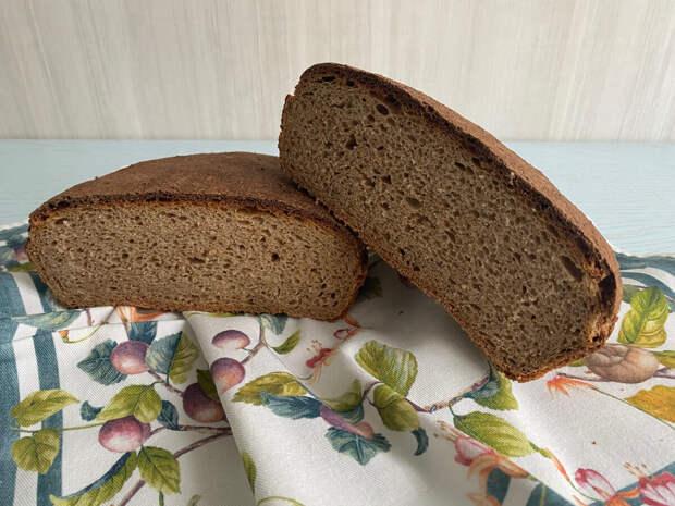 Домашний хлеб на закваске из цельнозерновой муки