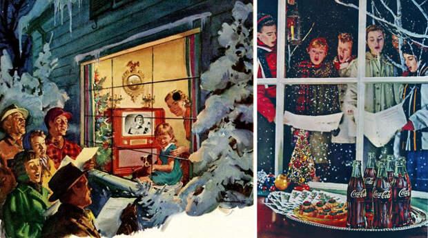 Новый год и Рождество в США 1950-х.