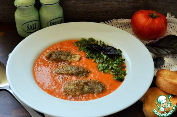 Итальянский томатный суп с треской