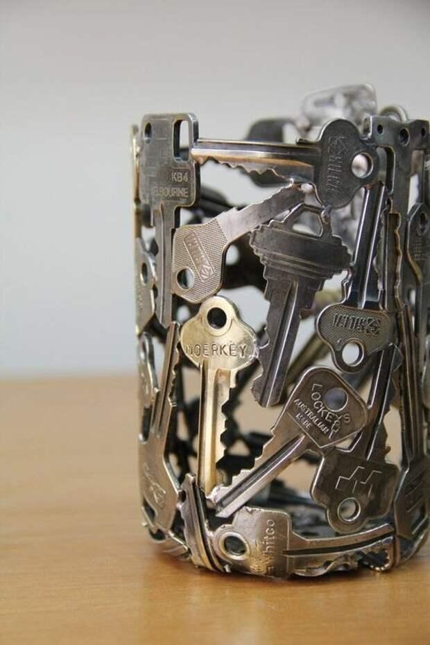 15. Подставка из ключей дизайн, идеи, мужские штучки, очумелые ручки, прикольно, своими руками