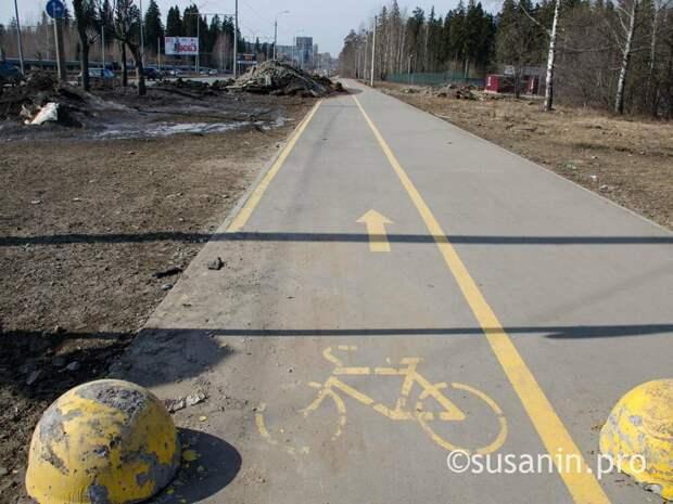 Тротуар и велодорожку на улице 10 лет Октября в Ижевске обустроят до конца мая