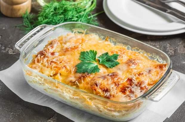 Картофель с плавленым сыром и беконом
