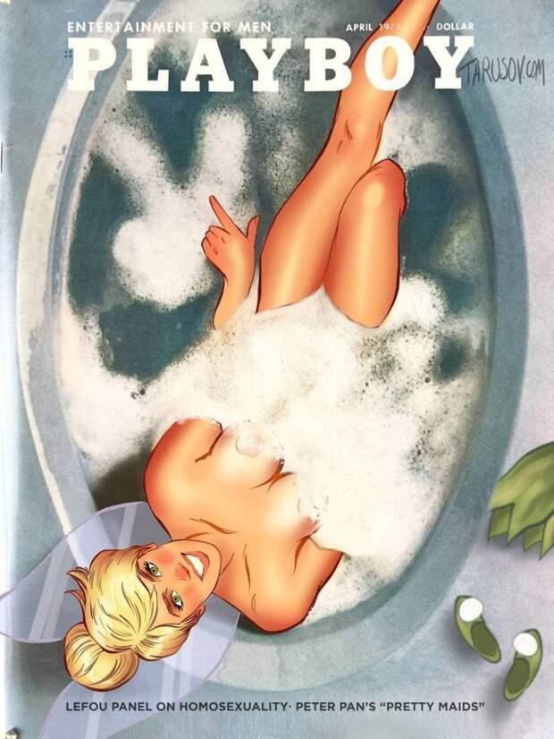 Художник нарисовал диснеевских принцесс в стиле пин-ап и поместил их на обложку Playboy. Оказывается, они те ещё горячие штучки