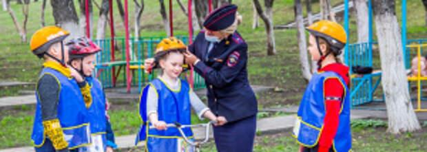 В Белгородской области автоинспекторы организовали для юных велосипедистов практикумы по дорожной безопасности