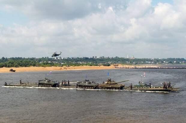 Понтонные подразделения начали речной переход от Мурома до Волгограда