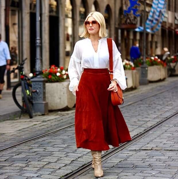 Сапоги под платье, ниже и выше колена. Разбираем женственные и нестандартные образы на женщинах 35+