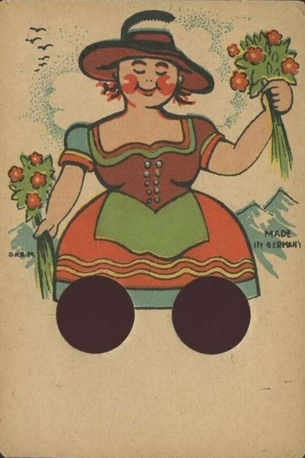 Странные интерактивные открытки прошлого с отверстиями для пальцев