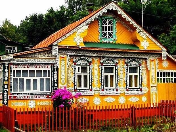 Русские избы - произведения искусства. Браво мастерам!