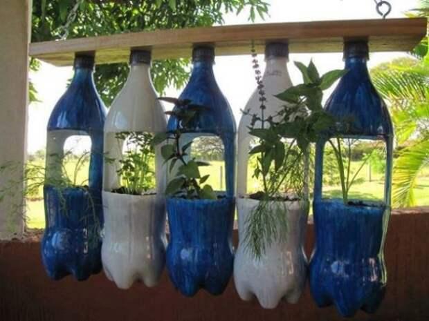 Самые крутые идеи использования пластиковых бутылок на даче