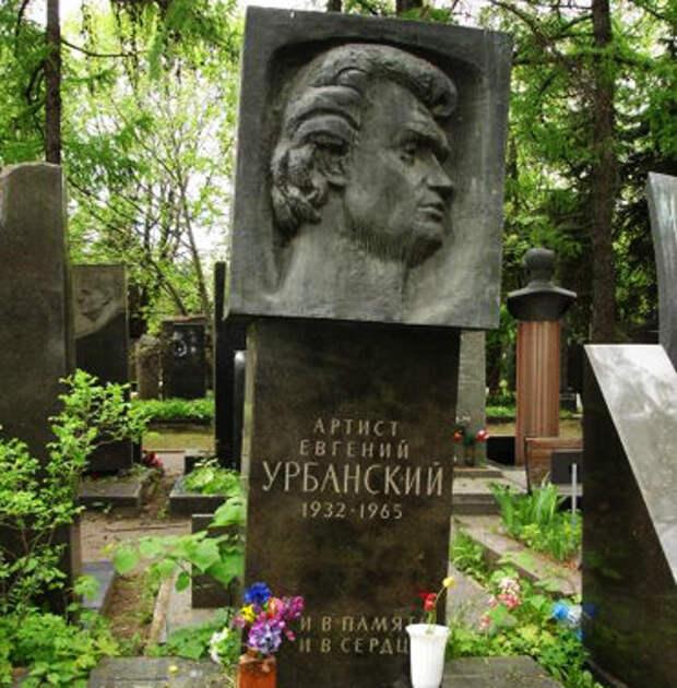 Могила актера на Новодевичьем кладбище