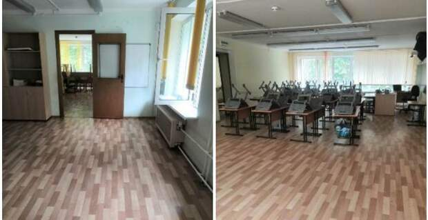 Перед началом учебного года в школе №1420 обновят кабинеты и рекреации