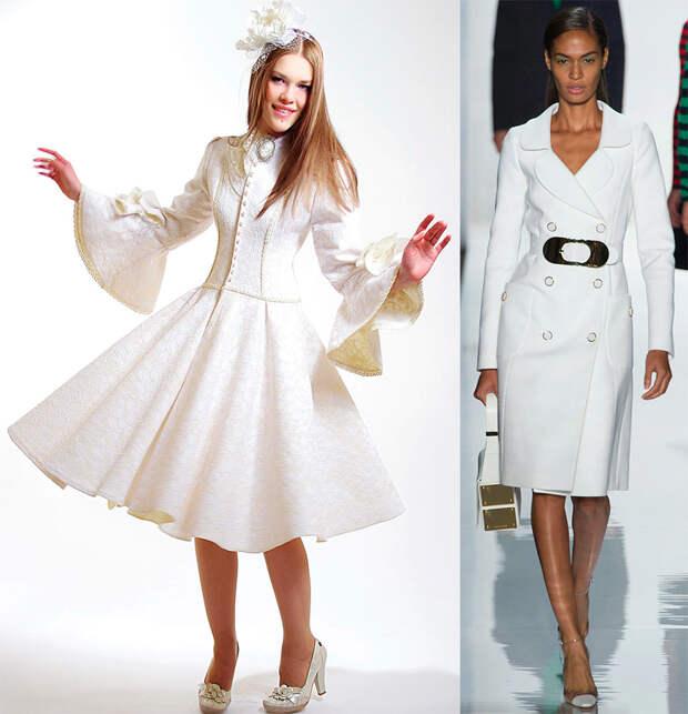 Модное платье-пальто