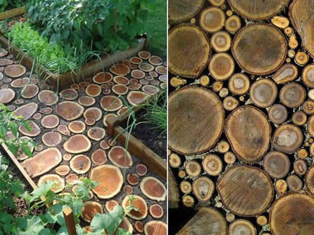 Деревянные дачные дорожки