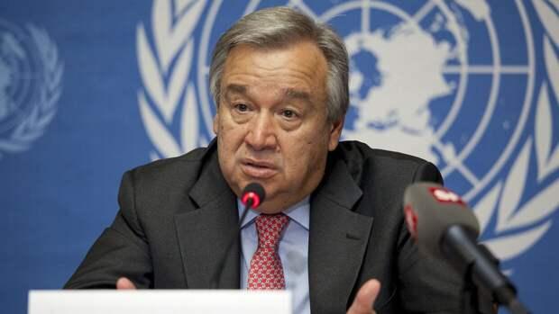 Гутерреш заявил, что ООН надеется на деэскалацию конфликта в Донбассе